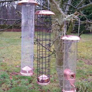 Copper Bird Feeders