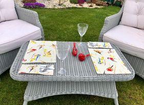 Bird Mat and Cutlery Pouch Set (2)
